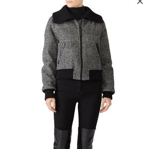 Mackage Alivia G Coat Down Leather Wool Bomber XS